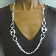 Women's sterling silver maglia marina necklace 27mm