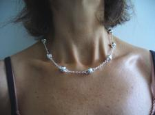 Handmade sterling silver necklace made in Italy