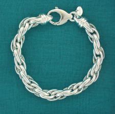 Bracciale maglia argento