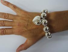 Braccciale sfere argento