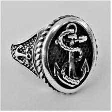 Anello uomo chevalier in argento 925. ANCORA base ovale. MISURA 23.