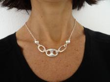 Sterling silver necklace with maglia marina link