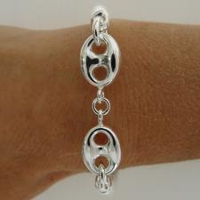 Sterling silver round tube bracelet