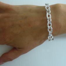 Catena in argento maglie ovali - Gioielli argento classici