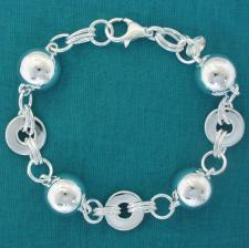 Sterling silver bracelet with balls