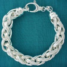 Sterling silver spiga chain bracelet 12mm.
