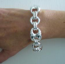 Mariner bracelet in sterling silver 20mm