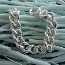 Sterling silver curb bracelet 16mm