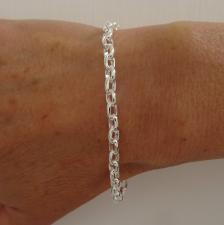 Bracciale argento maglie ovali 5mm
