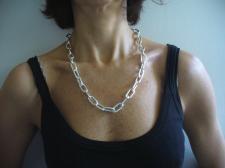 Collana maglia allungata in argento 925
