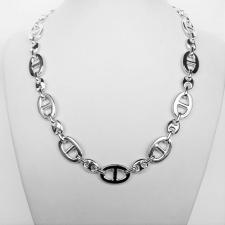 Solid sterling silver anchor chain necklace