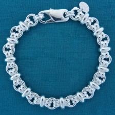 Vintage silver link bracelet