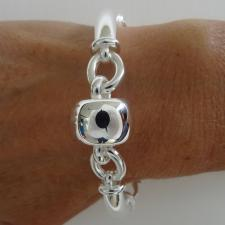 925 silver bracelet with barilotto link 18mm.