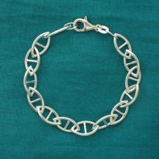 Bracciale maglia ogiva traversino - Gioielli in argento 925