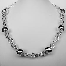 Sterling silver necklace. Women's ''Barilotto'' link chain 14mm.