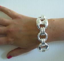 Sterling silver maglia marina link bracelet
