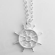 Collana argento pendente timone