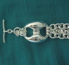 Bracciale argento 925 maglia marina 27mm per donna