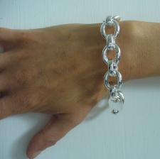 Bracciale in argento 925 fantasia - Bracciale argento donna.