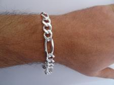 Figaro bracelet in sterling silver