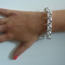 Bracciale argento rolo tondo 14mm - Bracciale donna argento 925