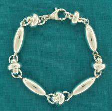 Sterling silver bracelet. Oval & ''UFO'' link bracelet.