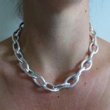 Sterling silver ogival necklace