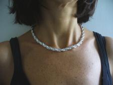 Handmade hollow silver chain from Italy