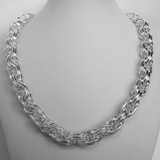 Sterling silver byzantine necklace 12mm. 117 grams.