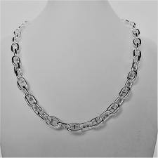 Anchor chain necklace in silver