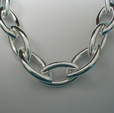 VISTOSISSIMA Collana catena argento - Collane in argento grandi