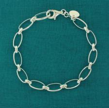Bracciale rolo alternato - Gioielli argento 925