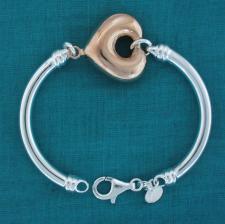 Bangle bracelet in silver