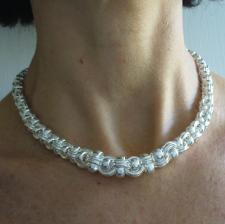 Solid silver graduated necklace