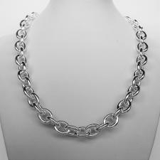 Oval link necklace in 925 silver made in Italy