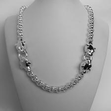 Sterling silver panther necklace