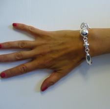 Women's silver link bracelet