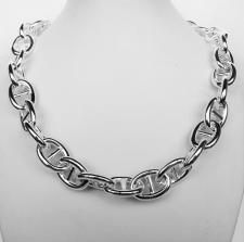 Silver anchor chain necklace