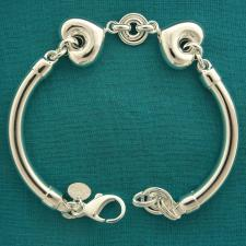 925 silver bangle bracelet made in Italy