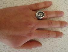 Anello chevalier uomo in argento con veliero