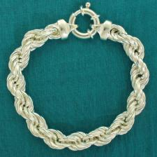 Rope bracelet in sterling silver
