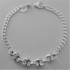 Bracciale in argento 925, centrale maglia marina.