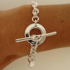 Sterling silver toggle bracelet 6mm