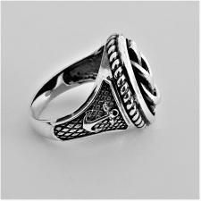 Anello chevalier nodo marinaro in argento