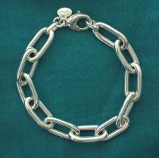 Gioielli argento bracciale rolo allungato.