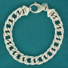 Curb bracelet in 925 sterling silver