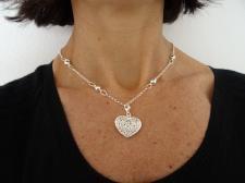Collana ciondolo cuore in argento 925.