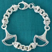 Equestrian horsebit bracelet in sterling silver