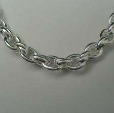 Sterling silver necklace with oval link