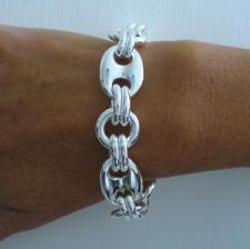 Sterling silver maglia marina bracelet 18mm.